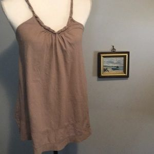 Lux Anthropologie taupe Boho shirt